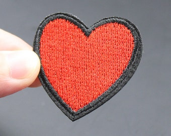 Heart Iron On Patch Embroidered patch 4x4cm - PH306