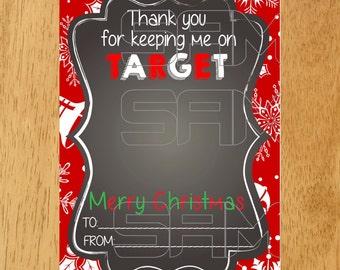 Target Gift Card Holder Tag - Christmas Printable