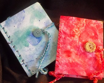 Two piece hand bound journal set