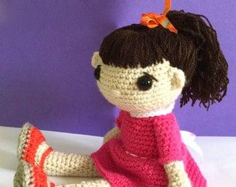 Doll, Ready to Ship, Crochet Doll, Soft Toy