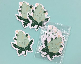 Happy Bud // Cute Tiny Stickers