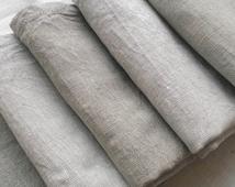 Linen Tea Towel Set of 4 - Washed Linen Dish Towels -Linen Kitchen Towels - Hand Towels - Guest Towels - Heavy Linen Towels - Durable Towels