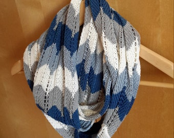 Sea Wave Infinity Scarf/Cowl  100% cotton