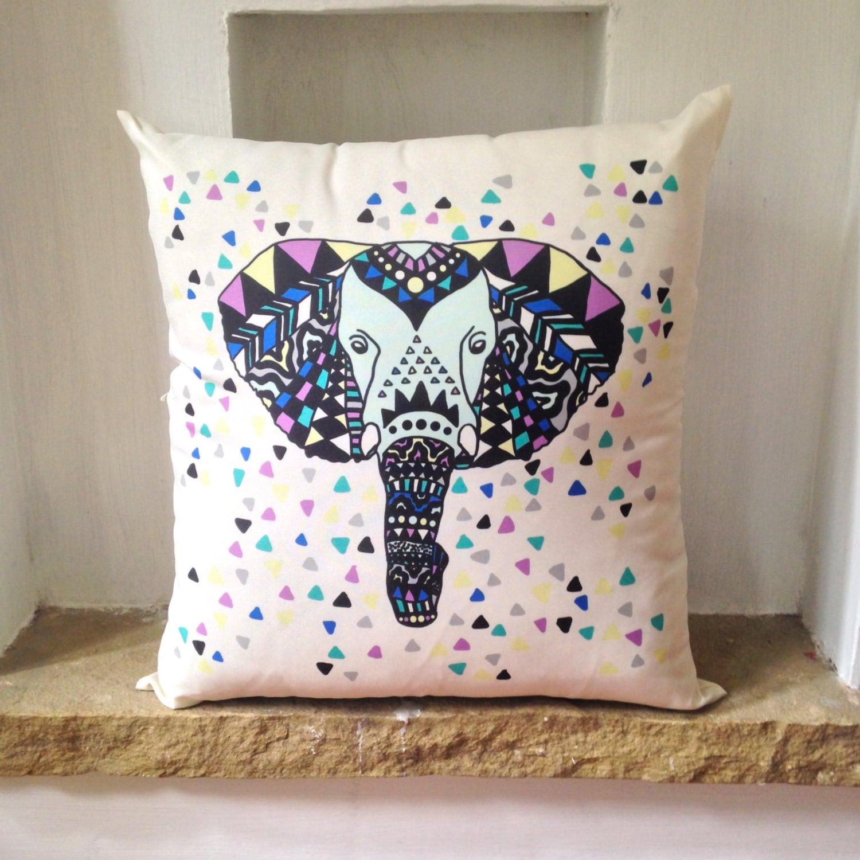 Elephant Pillow Decorative Pillow Travel Pillow Elephant