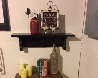 Black Painted Shelf