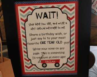 Little Red Wagon Guest Book Sign