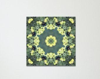 Blue Lake Mandala Canvas Print | Visionary Art | Feng Shui Wall Decor - Metal Element