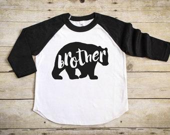 Brother Bear Shirt - Big Brother Shirt - Pregnancy Announcement Shirt - Big Brother Announcement Shirt - Sibling Shirt  - Raglan T-Shirt