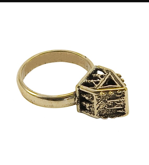 Ancient Jewish Wedding: Items Similar To Ancient Jewish Wedding Ring With House On