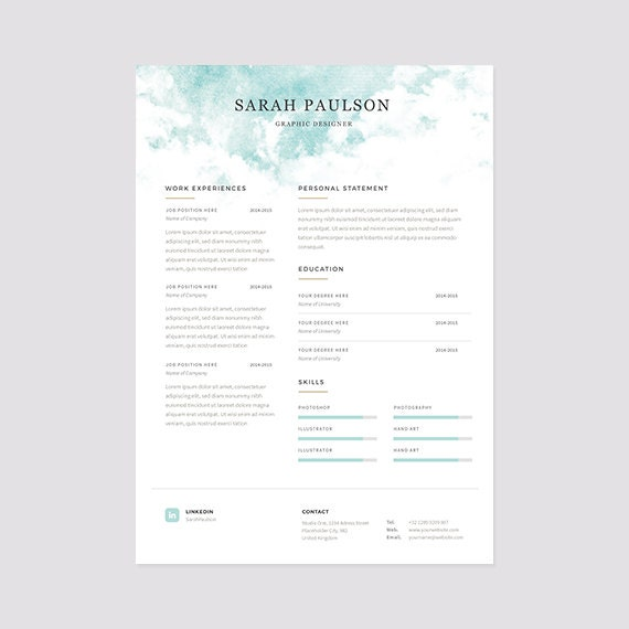 instant resume templates resume template instant download cover letter