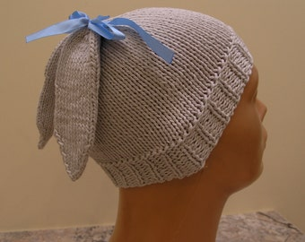 """handmade knitted """"Bunny ears"""" for baby"""