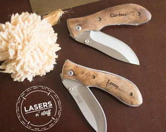Gifts for Him - Personalized Pocket Knife - Engraved Wedding Party Gifts - Personalized Knives for Groomsmen and Best Friends