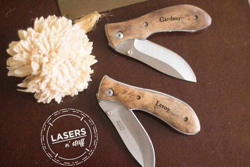Knives For Wedding Gift : Groomsmen Gifts Personalized Pocket Knife Engraved Wedding