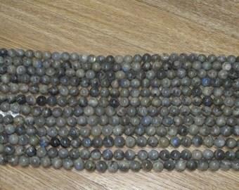 10MM Round Blue Flash Labradorite 15 inch Strand