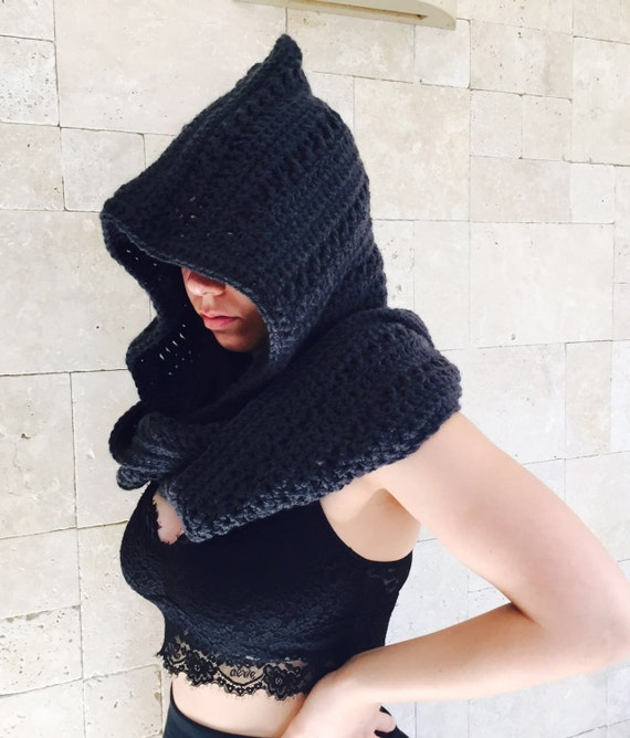Product Features scarf or make a hooded shawl, hooded hat scarf shawl to keep you warm.