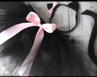 Black Cat Halloween Costume Baby Size