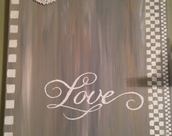 "16 x 20 acrylic painting entitled ""Love"""