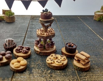 Miniature ooak Woodland party food collection