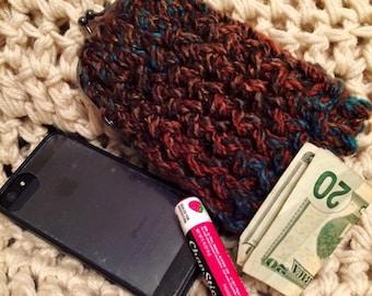 Hand Knit Snap Purse