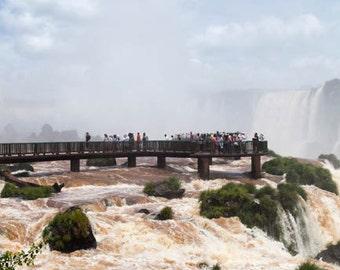 Brazil, Iguazu Falls, Iguazu River, waterfall, ladscape photography, Brazil photography, wall art print, fine art #015