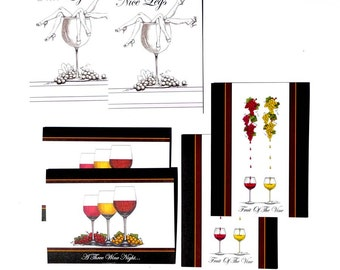 Wine Lovers Card A-Pack Of 6 (NL,FOV,3WN)