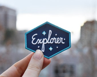 Explorer Patch - Glow in the dark Iron-on Outer Space Patches