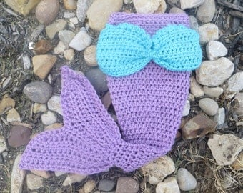 Mermaid Tail Photo Prop, Baby Mermaid Tail, mermaid fin, mermaid blanket, purple mermaid tail