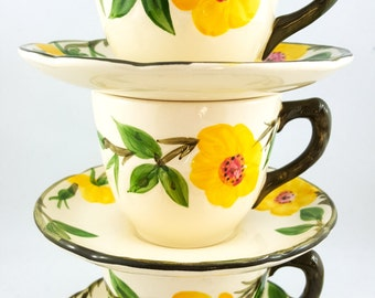 Lovely Floral Tea Cup Set