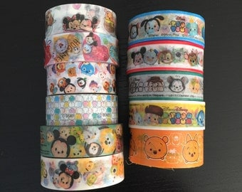 "24"" SAMPLES of Tsum tsum washi tape (D04)"