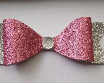 Pink and silver headband/clip