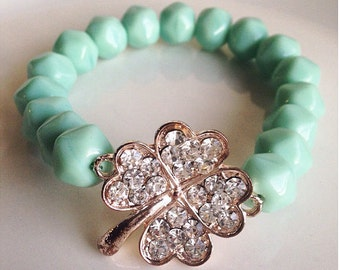 Mint Green in the Spring Bracelet