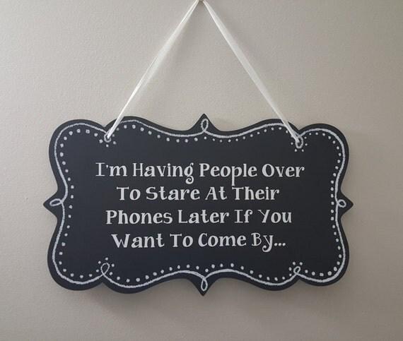 Items Similar To Decorative Hanging Sign, Chalkboard, I'm