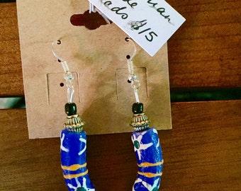 Tanzanian trade bead earrings