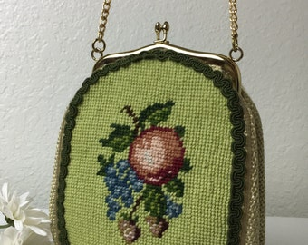 60's Craft Apple & Berries Purse