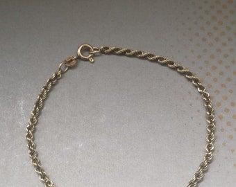 14K Yellow Gold Rope Bracelet