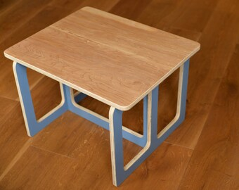 Kids wooden square table