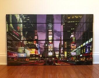 New York City wooden wall decor