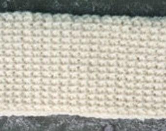 Cream and Gold Crochet Headband