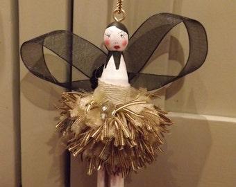 "traditional wooden peg doll. Hand painted Fairy Ballerina......""Fallerina"""