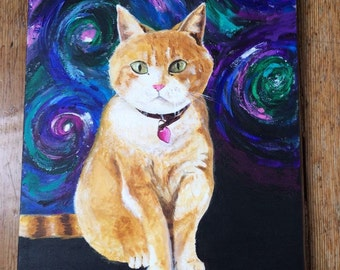 Custom Pet Portrait - Acrylic Painting - Custom Size