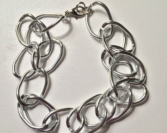 Lightweight Silver Chain Bracelet