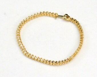 SUMMER SPECIAL Diamond Bracelet, Tennis Bracelet, 14KT Bracelet, Wedding Bracelet............ Stunning Elegance J266