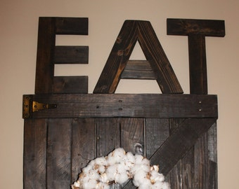 eat wood letters reclaimed wood letters
