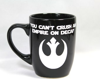 Star Wars Mug, Star Wars Coffee Cup, Star Wars Fan, Star Wars Gift, Star Wars Birthday, Dad Gift, Boyfriend Gift, Gift For Him, Rebel Mug