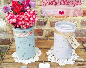 Painted kilner jars
