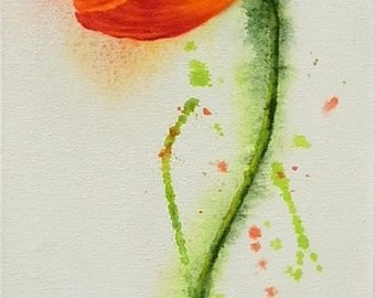 acrylic painting original acrylic painting poppy flowers poppy poppies poppy flowers