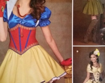 Steampunk maidens and fairy Halloween Costume Womans Uncut Sewing Pattern size 6-14