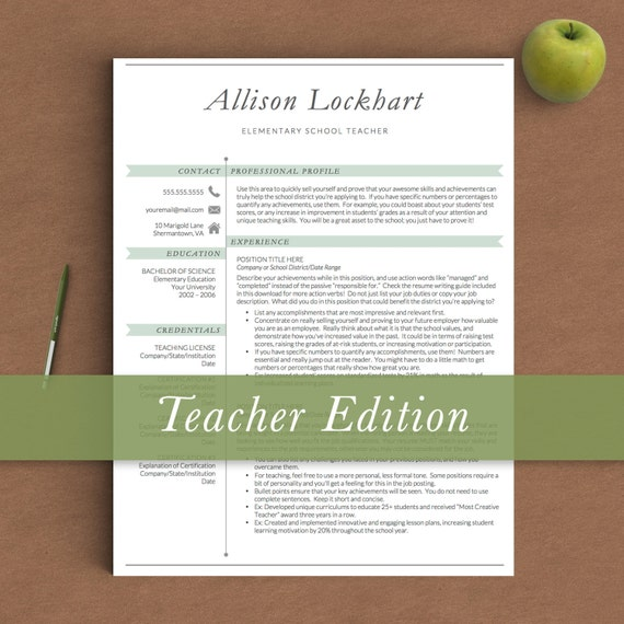teacher resume template for word  u0026 pages 1 2 by thetemplatestudio