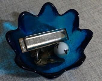 Decorative Vintage Blue Bowl