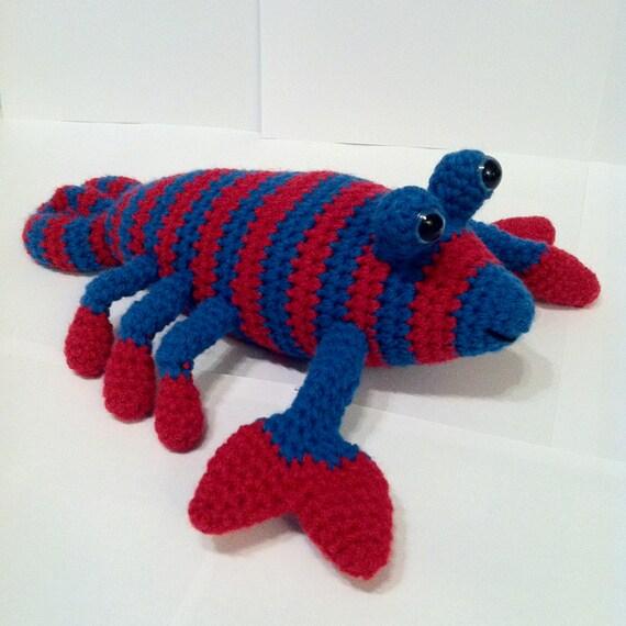 Crochet Lobster Amigurumi Lobster Red & Teal by ...